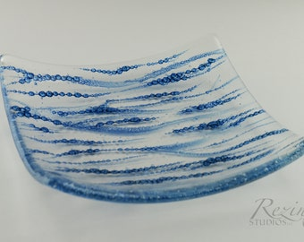 Fused Glass Bubble Dish