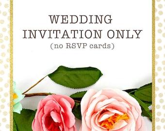 Wedding Invitations Only - Printed Wedding Invitations