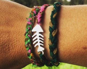 Tripple wrap fish bracelet