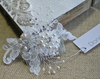Bridal Headpiece Bridal Hair Comb Wedding Hair Comb Decorative Comb Bridal Hair Accessory - EMILIA