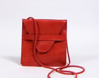 Jil - red leather purse