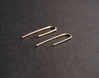 Medium Threader Earrings - gold filled earrings, sterling silver earrings, minimalist earrings, minimal earrings, minimalist gold earrings