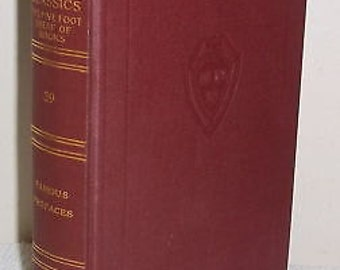 1910 5 Foot Shelf Harvard Classics~V 39 Famous Prefaces