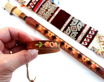 Armenian Duduk, Pro Duduk Musical Instrument, Reed, Armenian Oboe, Armenian Motive Case and Elegant Leather Bracelet as a Free Gift