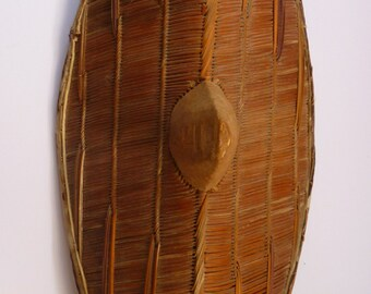 Collectable Finely Woven African Uganda / Ganda Tribal Shield. Early 20th Century
