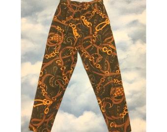 90's print Velvet pants