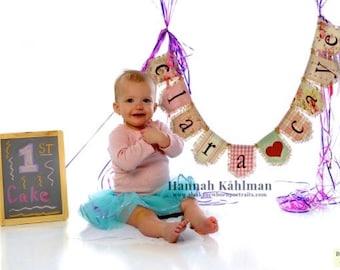 Custom baby child name bunting banner flag...baby, celebration, shower