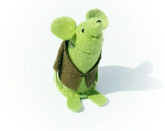 Halloween Ornament - Frankenstein's Mouse - A handmade felt mouse, a pefect gift for Halloween