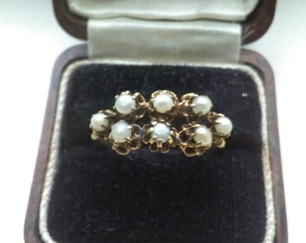 Antique Victorian Gold & Seed Pearl Ring