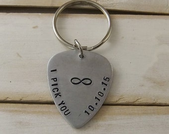 I pick you keychain, Infinity Keychain, Personalized Keychain