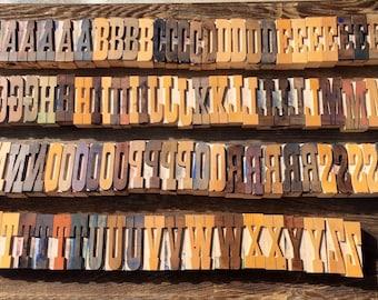 Vintage Letterpress / Uppercase Letter Press / Printer Block Letter / Letter Decor / Printer Press Letter / Rustic Industrial /Wooden Letter