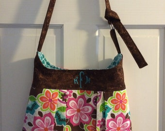 Personalized Pleated Handbag (your choice of fabric)
