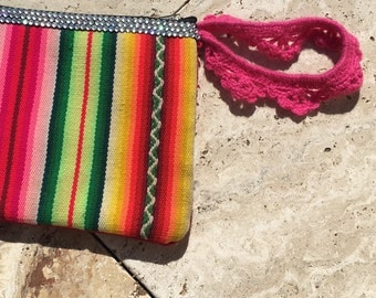 Cosmetic bag / purse / aztec handbag
