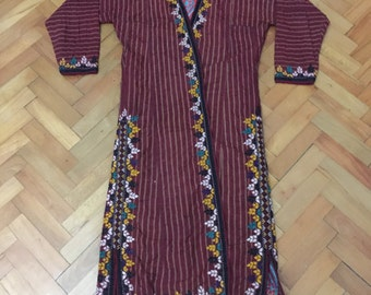 FAST FREE SHİPPİNG ! Vintage caftan Traditional dress from central asia very nice dresses
