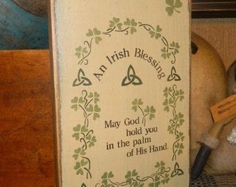 An Irish Blessing primitive sign