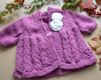 Cute Hand Knitted Purple Princess Coat