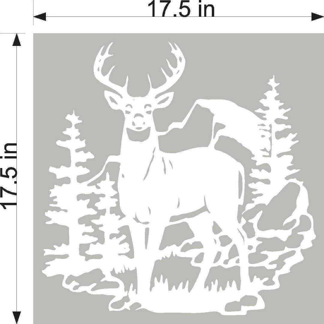 Deer Buck Hunting Diy Etched Glass Vinyl Gun Cabinet Window