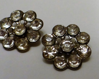 Vintage Buttons Rhinestones