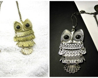 20% discount/Fashion Necklace Antique bronze/or Silver Owl/cheap/sale/discount/affordable.