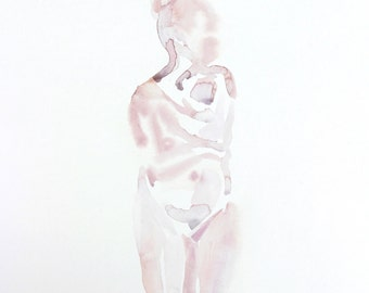 hold . original watercolor painting
