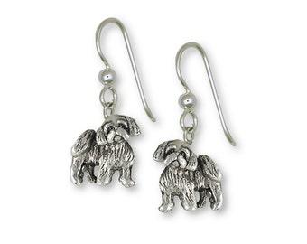 Shih Tzu Earrings Handmade Sterling Silver Dog Jewelry SZ27-FW