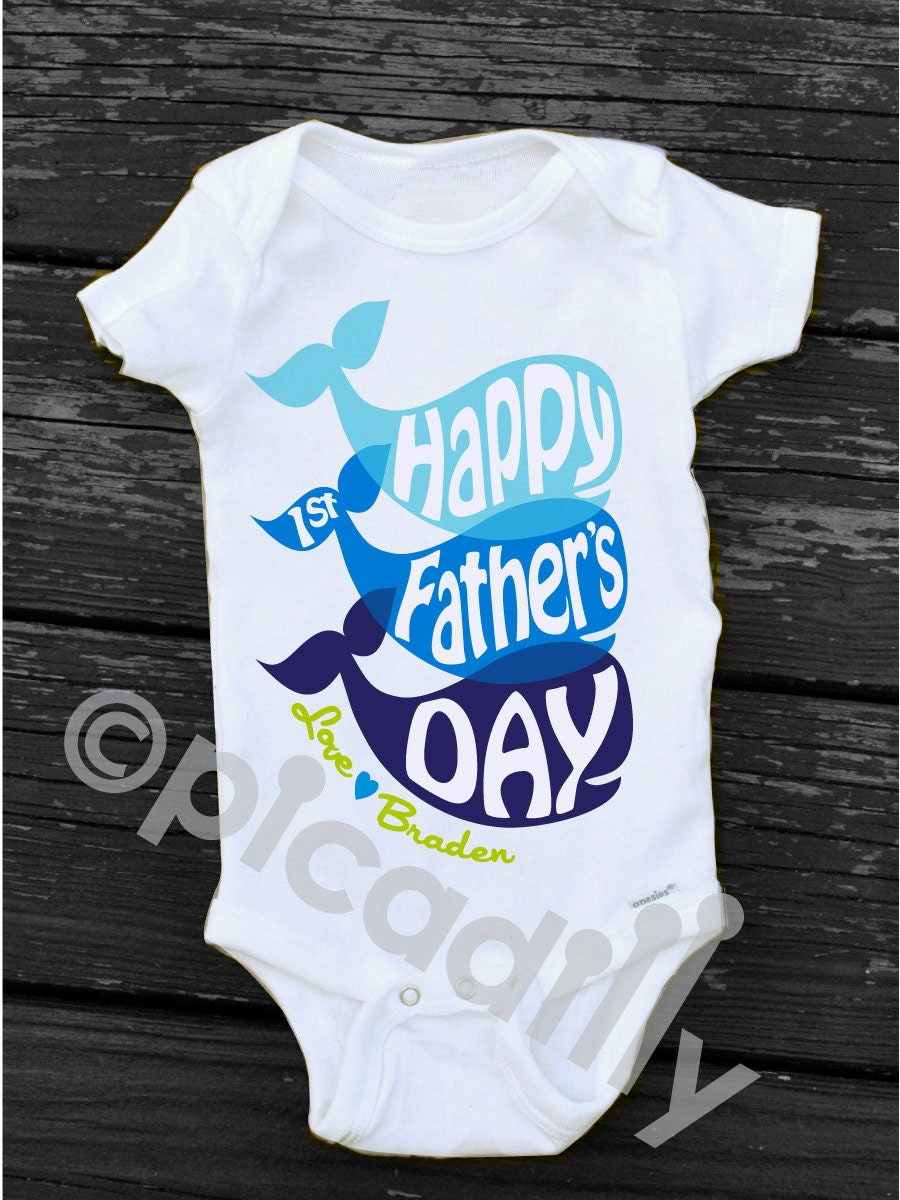 Happy First Fathers Day Onesie Fathers Day Gift From Baby Boy
