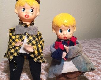 Vintage Felt Christmas Caroler Figures