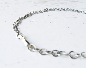 Sterling Silver Bracelet / Matte Silver Bracelet / Silver Chain Bracelet / Handmade Loops Bracelet / Bracelet For Her / Gift For Her