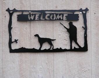 Bird Dog welcome sign. (Setter)