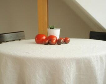 Linen tablecloth Linen table runner Natural white linen tablecloth Natural white linen table runner Scandinavian Fabric