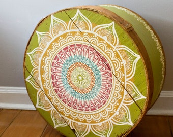 PRICE REDUCED! Hand Painted Bohemian Wooden Cheese Box