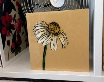 Daisy, Flower, Wall Art Stencil, Spray Paint