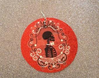 Dia de los Muertos Skull Christmas Ornament