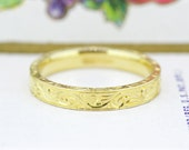 18k Wedding Band   Antique Wedding Band   Yellow Gold Wedding Ring   Ostby Barton Ring   Dainty Gold Band   1900s Stacking Ring   Size 4.5