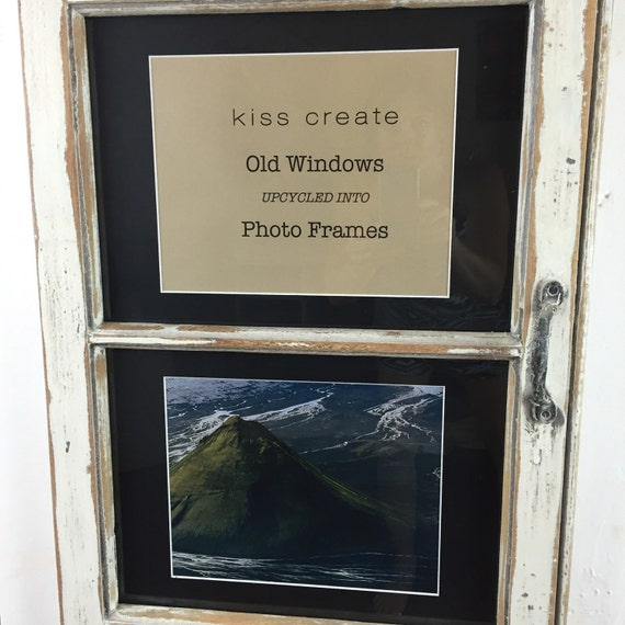 Upcycled window photo fra...