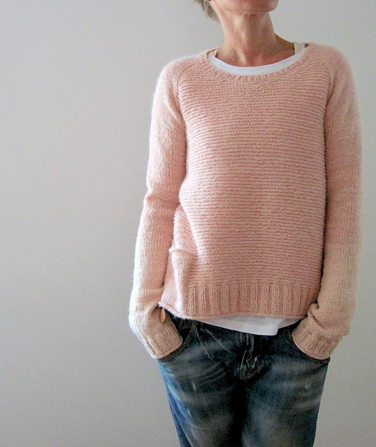 Knitting Terms M1 : Kit pink memories xxl from poloandco on etsy studio