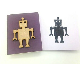 ROBOT Stamp. Perfect for cardmaking, scrapbooking, printing and general crafting