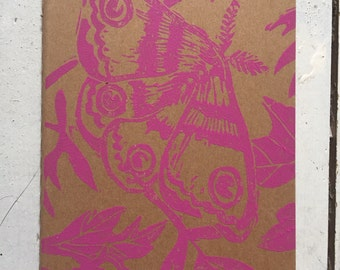 Hand printed moleskin notebook