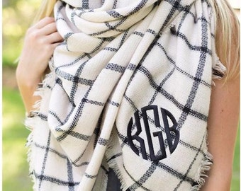 Bonfire Babe - personalized blanket scarf - warm - fall accessory