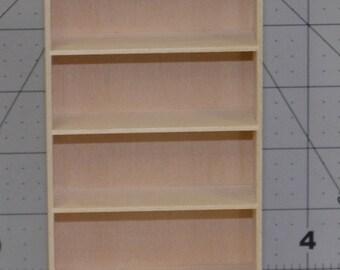 Miniature Bookcase, Miniature Furniture, 1/12 scale furniture, 1/12 scale bookcase