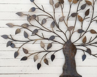 Metal Tree, Wall Art, Iron Tree, Decoration, Hanging Tree, Bonsai Tree
