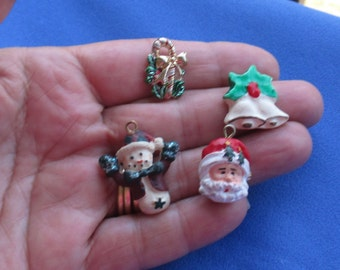 Lot Of Retro Christmas Charms Embellishments