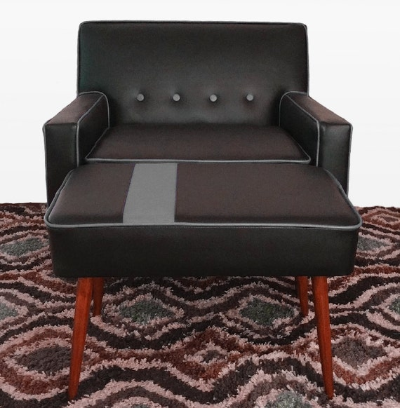 Modern Lounge Chair With Ottoman by EverythingModern on Etsy