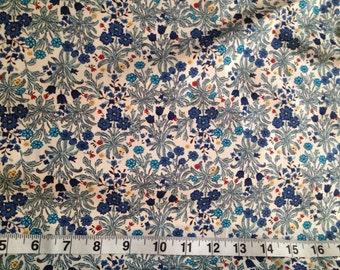 Blue Flower - 100% Cotton 112cm Wide