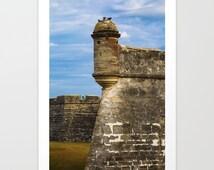 Fort Photograph, Fort Print, Fort Marion, National Monument, St Augustine, Fort St Mark, Historical photo, Castillo de San Marcos, Florida