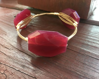 Scarlet Wire Bangle Bracelet