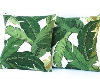 2 Tommy Bahama pillow covers, cushion, decorative throw pillow, Palm tree pillow, accent pillow, outdoor pillow, pillow case