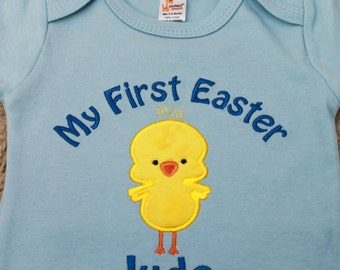Baby Boy Easter Shirt - First Easter Outfit - Boy Easter Shirt - Easter Shirt - Easter Chick Outfit