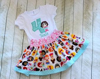 girl super hero birthday outfit girls superhero birthday skirt set pink aqua yellow clothing for toddler girl birthday