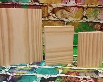 Blocks, Wooden Blocks, Free Standing Blocks, DIY, Wooden Cutout Unfinished, Wooden Blanks, Wooden Shapes
